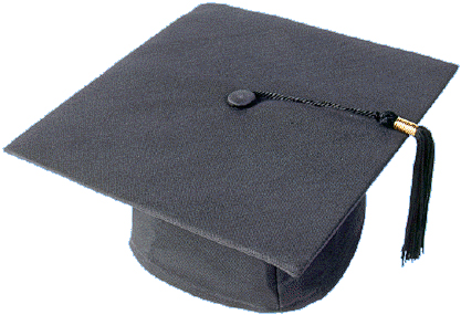 Graduation Cap in Black Color in Matte Finish