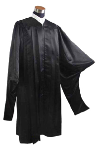 Masters Gown - Black Color in Matte Finish